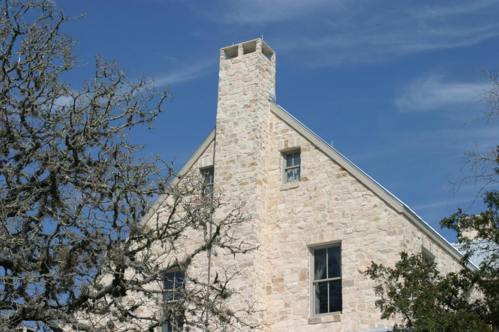"<a href=""/node/230"">ALL MASONRY SIDING AND EXTERIOR FIREPLACES FEATURE DEL RIO STONE USING A SMEAR JOINT TECHNIQUE. THESE FEATURES WERE DONE WITH AN INTENTION TO EMBODY THE DETAILS OF A HISTORIC GERMAN STONE FARMHOUSE.</a>"