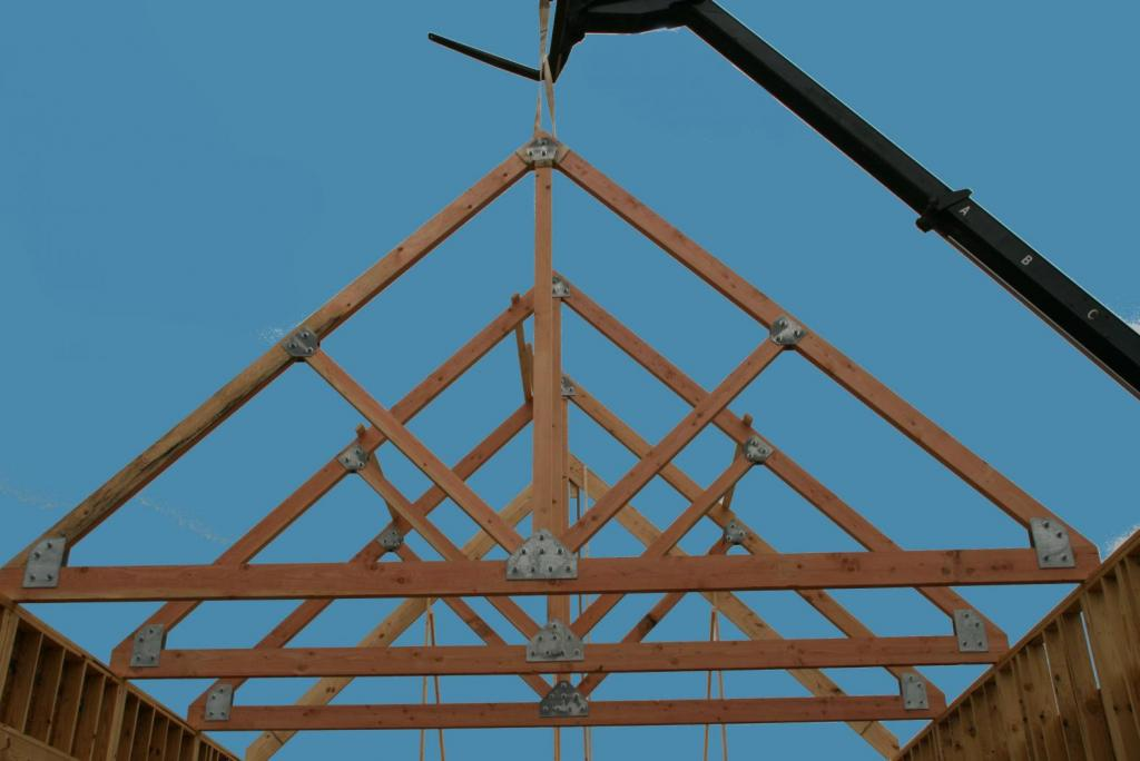 "<a href=""/node/179"">A CLOSER LOOK AT THE CUSTOM TIMBER TRUSSES BUILT ON-SITE USING DOUGLAS FIR WHICH ARE HELD TOGETHER BY CUSTOM GALVANIZED METAL BRACKETS. </a>"